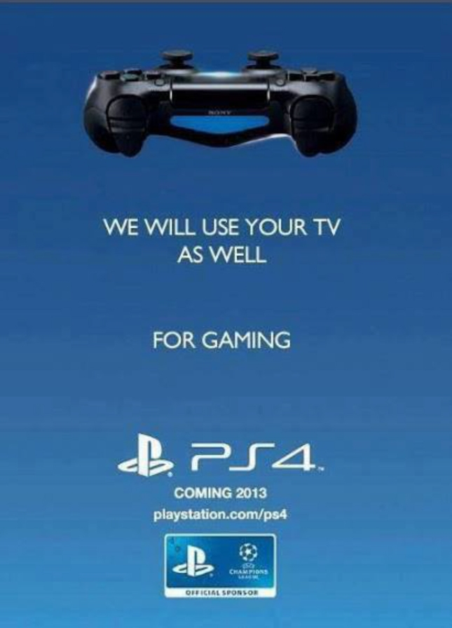 PS4 Shit Just Got Real VS XboxOne War Ad We Will Use Your TV As Well For Gaming