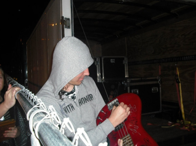 Tim Lambesis Signing Guitar As I Lay Dying