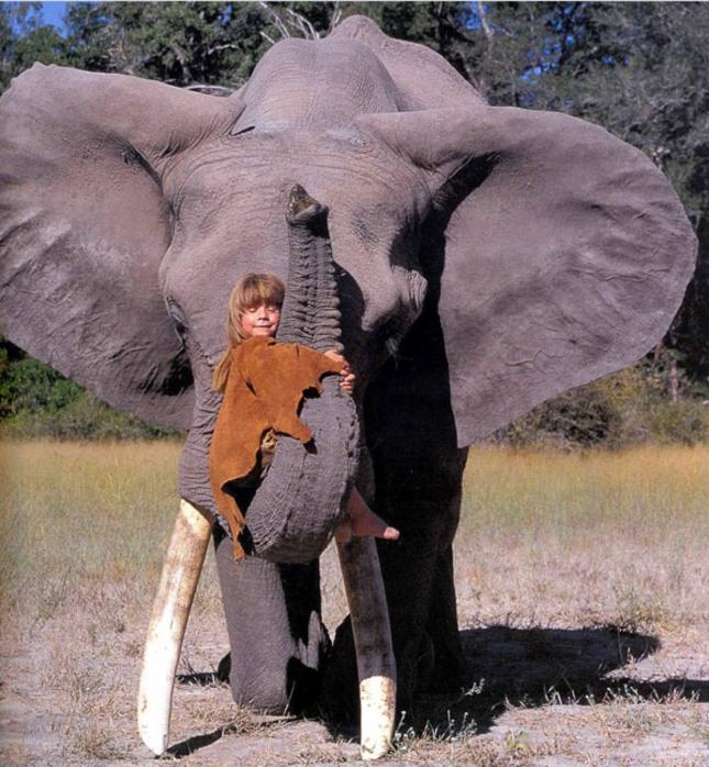 Hugging Elephants Tippi Africa Little Girl