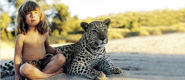 Tippi Africa Sitting With Cheetah