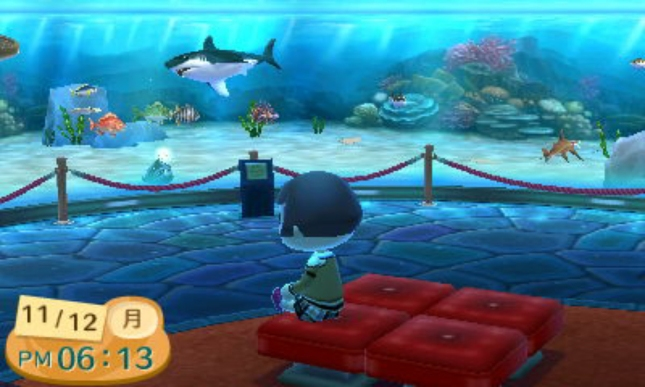 Animal Crossing: New Leaf Museum Shark And Fish