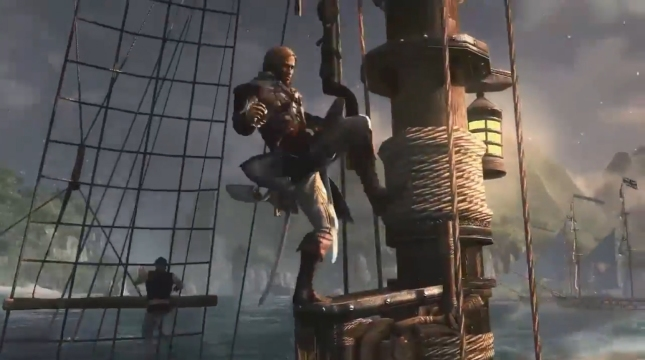 Assassin's Creed 4 Pirate Boat Surfing Screenshot Edward