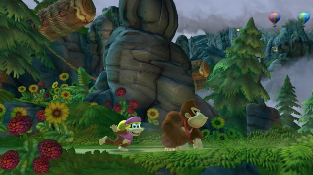 Donkey Kong Country: Tropical Freeze Dixie Kong Gameplay Screenshot WiiU