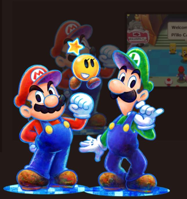 Mario and Luigi 3DS Dream Team Bros. Characters Artwork