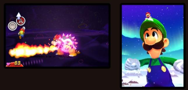 Mario & Luigi 4: Dream Team Giant Luigi Gameplay Screenshot (3DS)