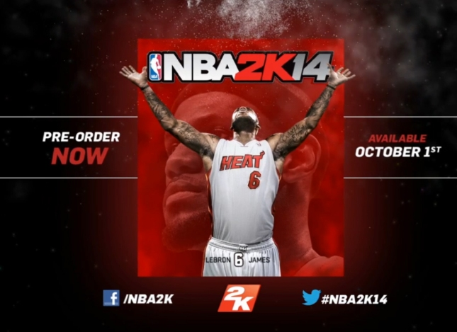 NBA 2K14 Lebron James Release Date Cover Artwork