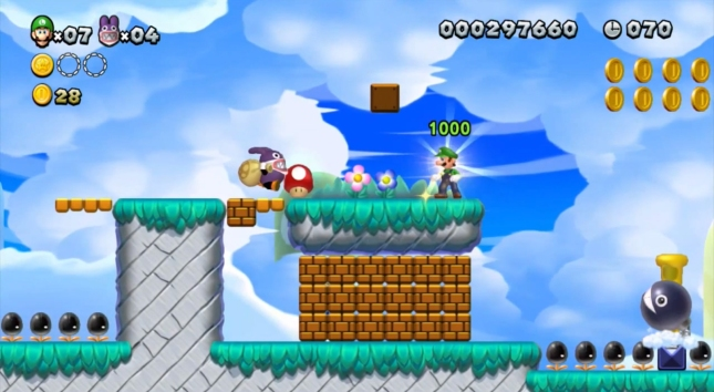 New Super Luigi U Mushroom Power Nabbit Gameplay Screenshot E3 2013 Trailer