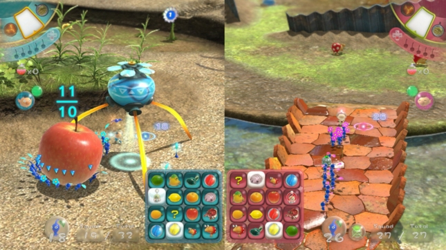 Pikmin 3 Bingo Multiplayer Mode Gameplay Screenshot WiiU