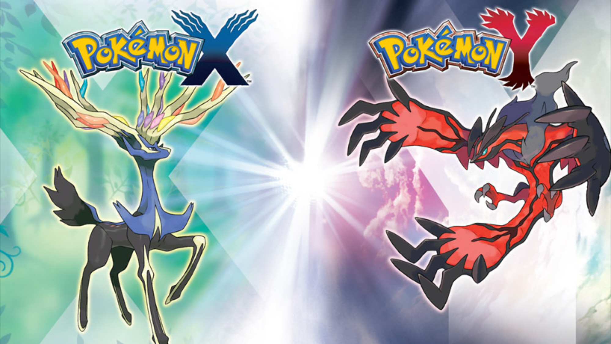 Pokemon XY Wallpaper Xerneas Yveltal Legendaries Artwork