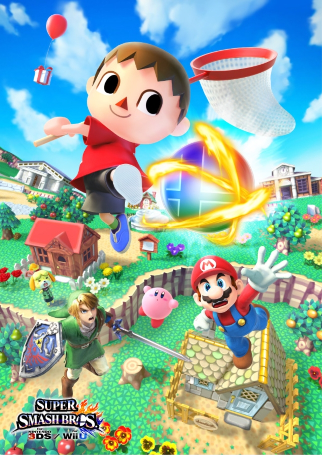 Super Smash Bros. 4 Animal Crossing Wallpaper Villager Artwork WiiU 3DS