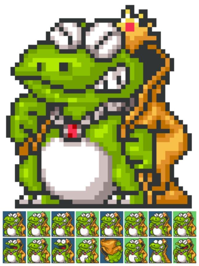 Wart Super Mario Bros. 2 Character Sprites