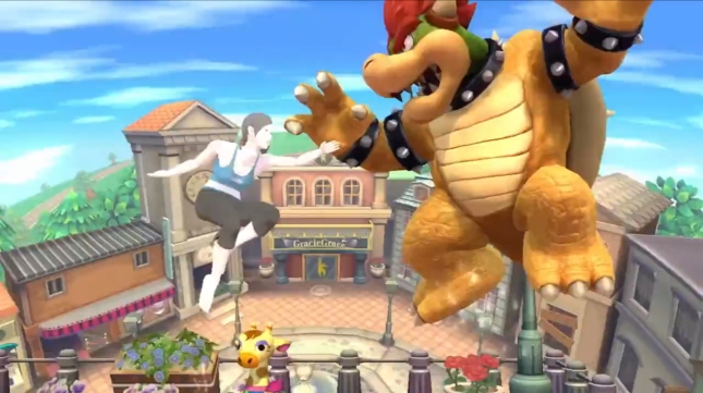 Wii Fit Trainer Girl Gameplay Super Smash Bros. WiiU 3DS Screenshot