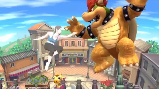 Wii Fit Trainer Girl Gameplay Super Smash Bros. WiiU 3DS Screenshot
