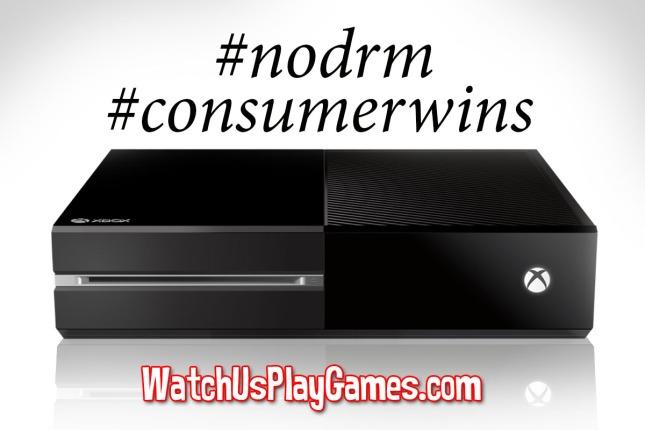 XboxOne No DRM Consumer Wins