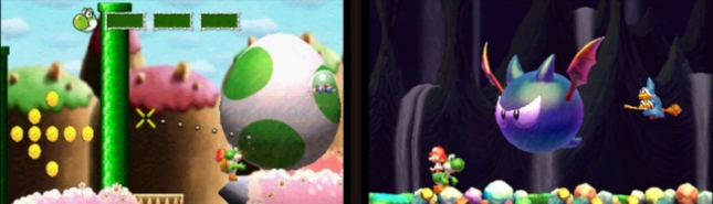 Yoshi's New Island 3DS Gameplay Screenshot Giant Egg Bat Boss