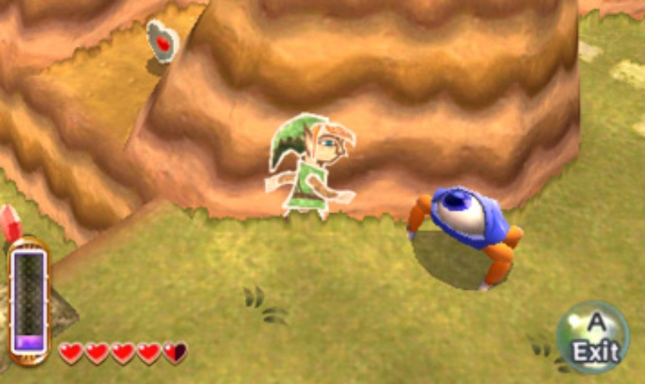 Zelda: A Link Between Worlds 2D Link And Eye Enemy Screenshot