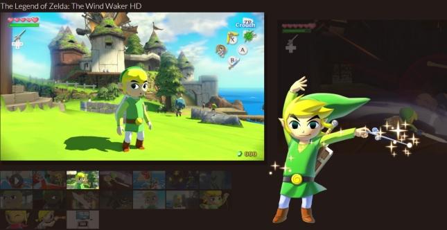 Zelda Wind Waker HD WiiU Artwork And Screenshots of Toon Link